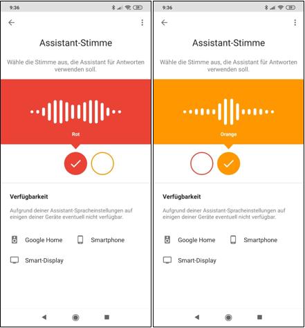 Google,Assistant,Stimme,Rot,Orange,Männlich,Weiblich,Stimme des Google Assistant ändern,Neue S...png