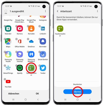 Samsung Konzentrationsmodus