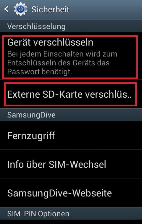 Ordner Verschlüsseln Android