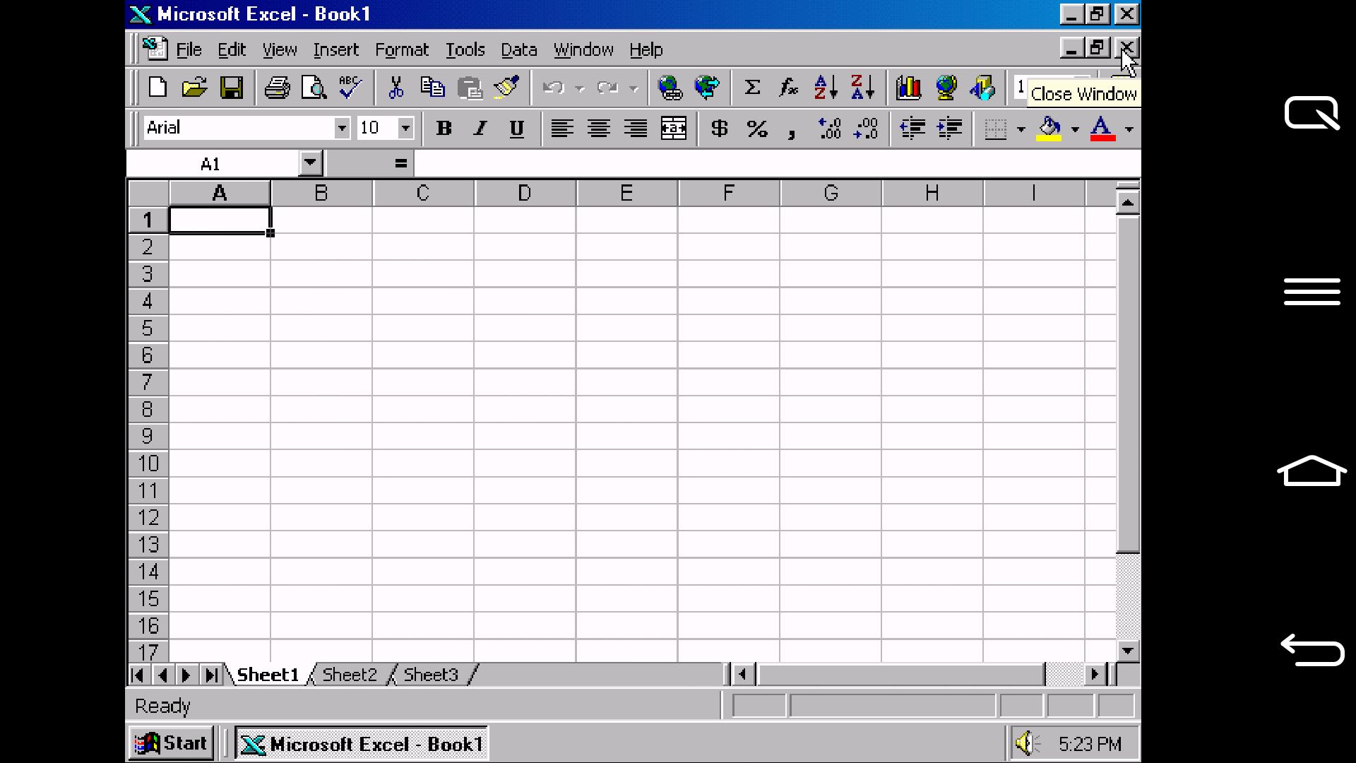Windows 95, Windows 98 oder Windows XP auf Android