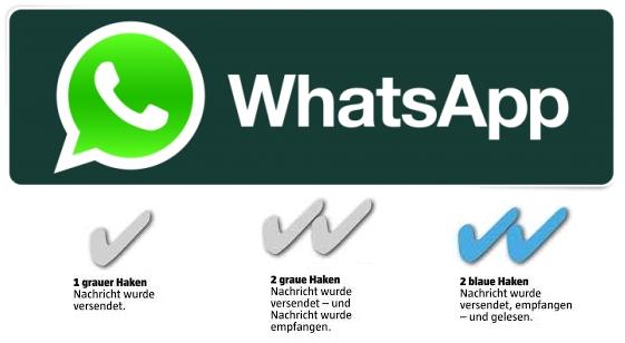 whatsapp nur ein haken warum