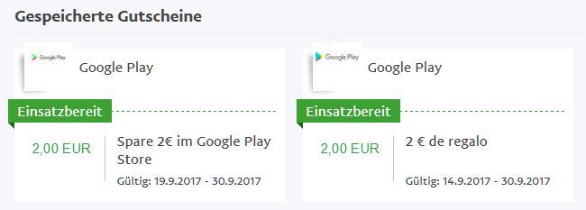 Maximal Zweimal Zwei Euro Google Play Store Guthaben Von PayPal