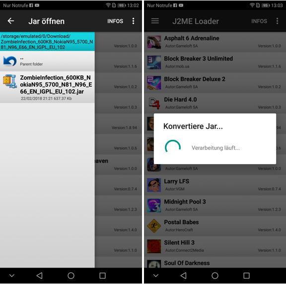 J2ME Loader für Android bringt Java Games auf Euer Smartphone - So
