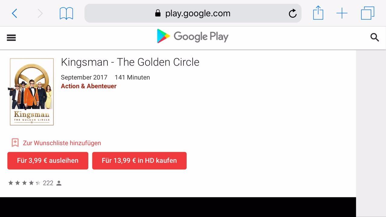 Youtube filme kaufen
