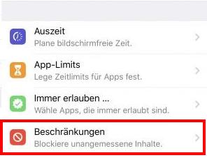 AppleiOS12iPhoneXXsMaxXrBeschränkungenInAppKaufKäufeInstallationZugriffZugriffeD.png