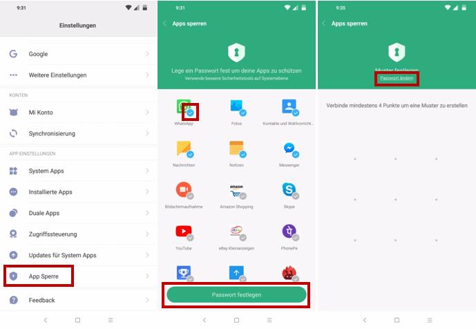 Xiaomi Pocophone F1 App Sperre nutzen und Passwortschutz ...