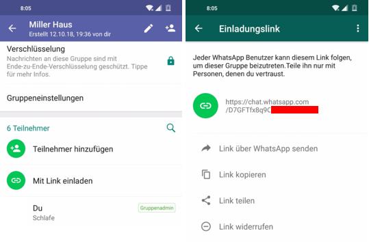 Whatsapp Einladungslink