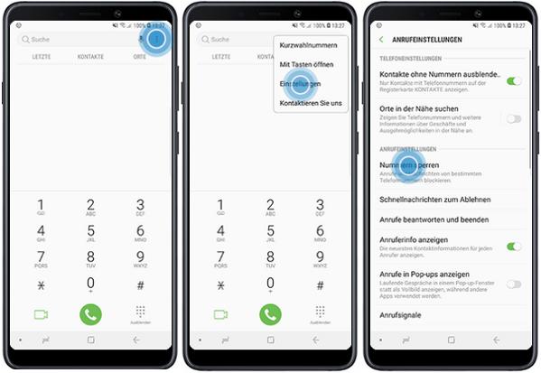 Variante 2: Anonyme Anrufer via App blockieren