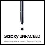 Samsung Galaxy Note 10 Unpacked am 07.08.2019 um 22:00 Uhr - So kann man dabei sein!