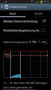 Datennutzung-Warnung vier Tage nach Kauf des Handys